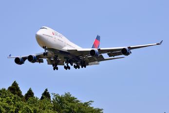 N673US - Delta Air Lines Boeing 747-400