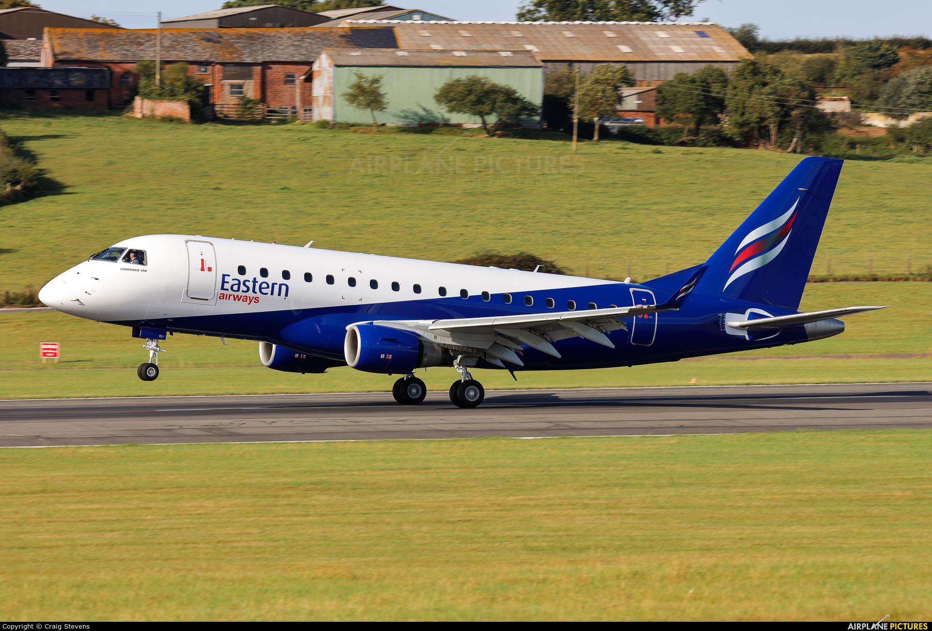 Eastern Airways G-CIXV aircraft at Exeter