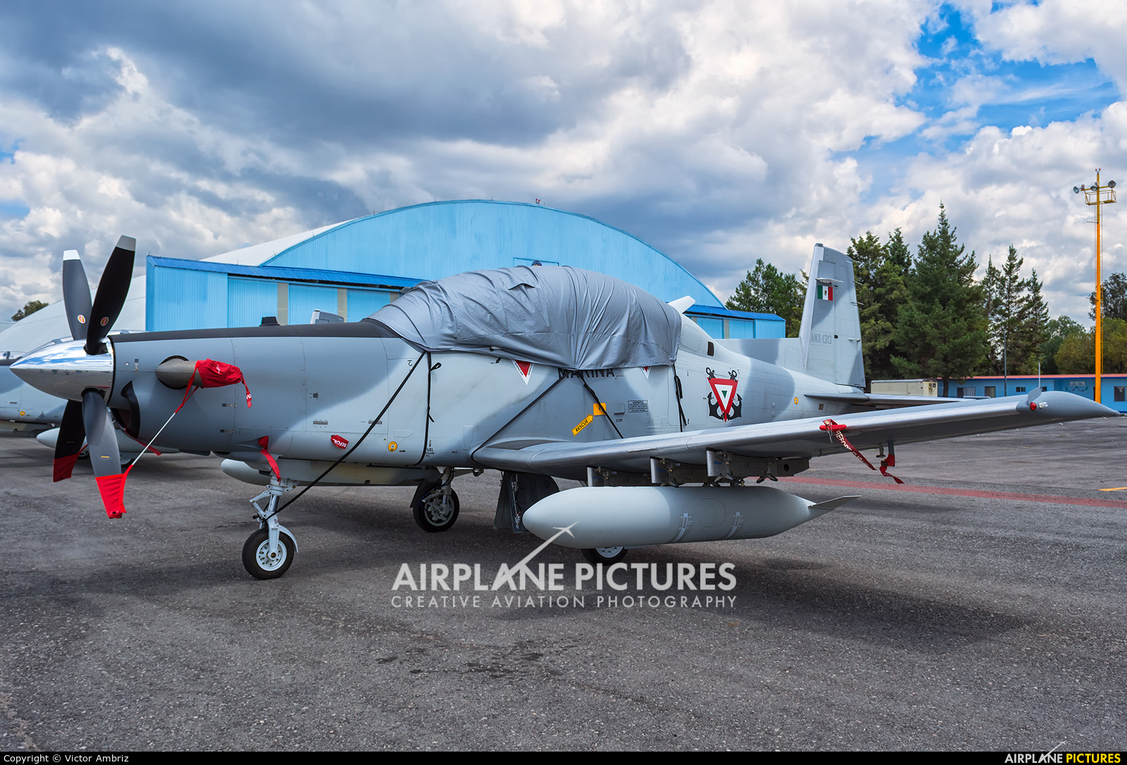 Mexico - Navy ANX-1313 aircraft at Santa Lucia AB