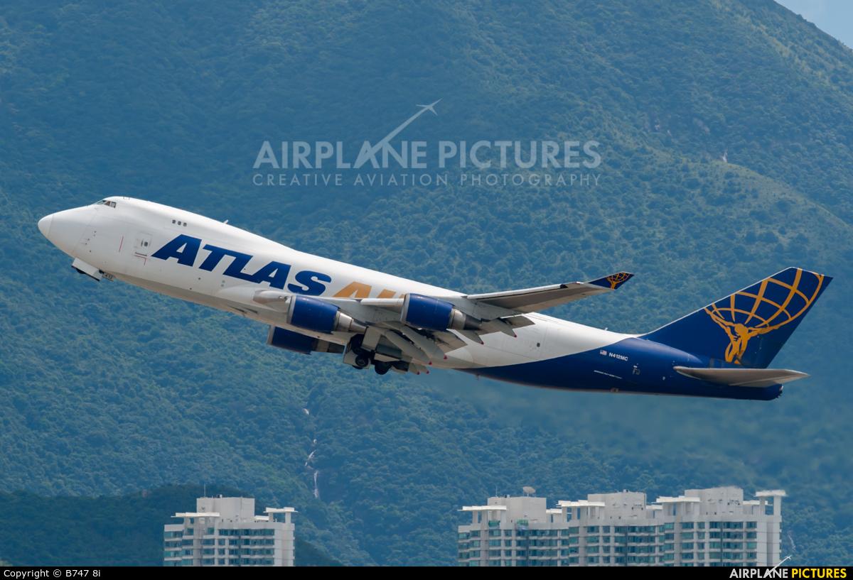 Atlas Air N412MC aircraft at HKG - Chek Lap Kok Intl