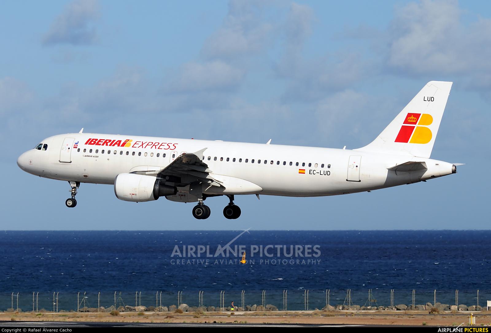 Iberia Express EC-LUD aircraft at Lanzarote - Arrecife