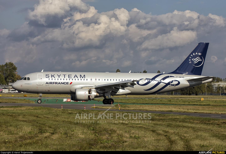 Air France F-GKXS aircraft at Warsaw - Frederic Chopin