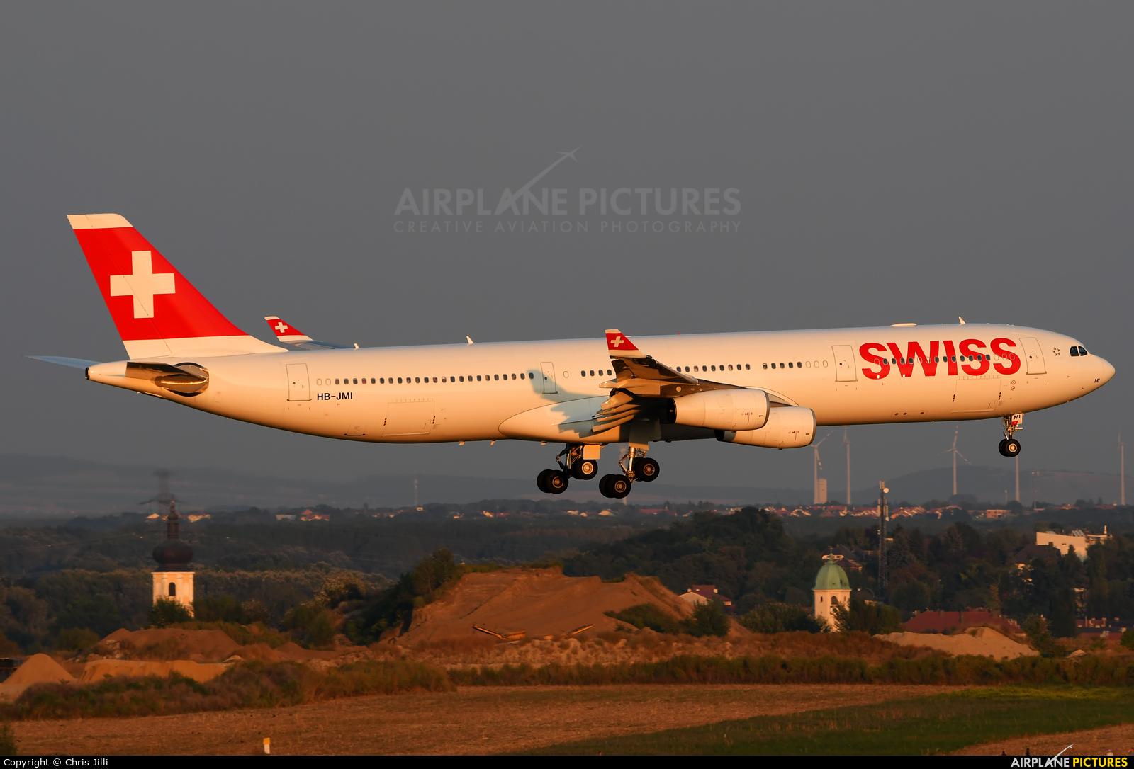 Swiss HB-JMI aircraft at Vienna - Schwechat