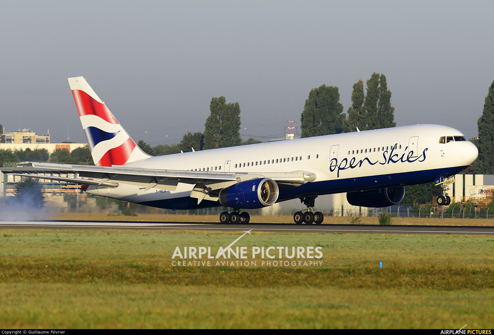British Airways - Open Skies F-HILU aircraft at Paris - Orly