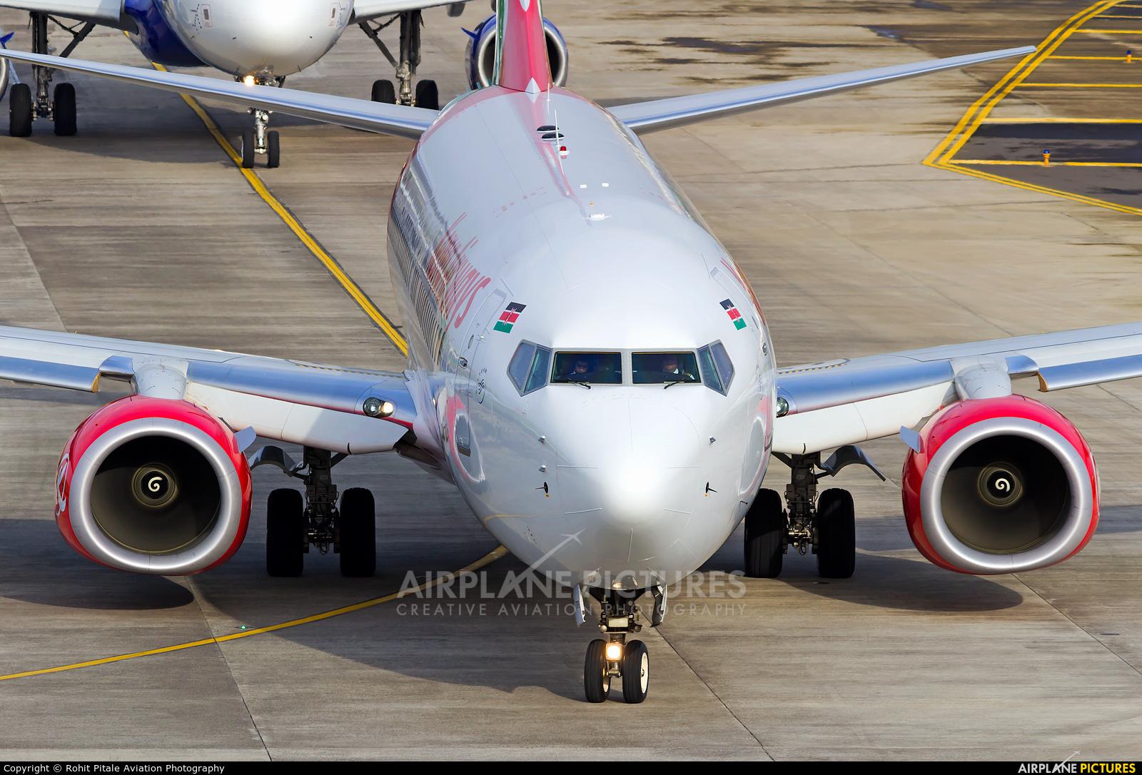 Kenya Airways 5Y-CYD aircraft at Mumbai - Chhatrapati Shivaji Intl
