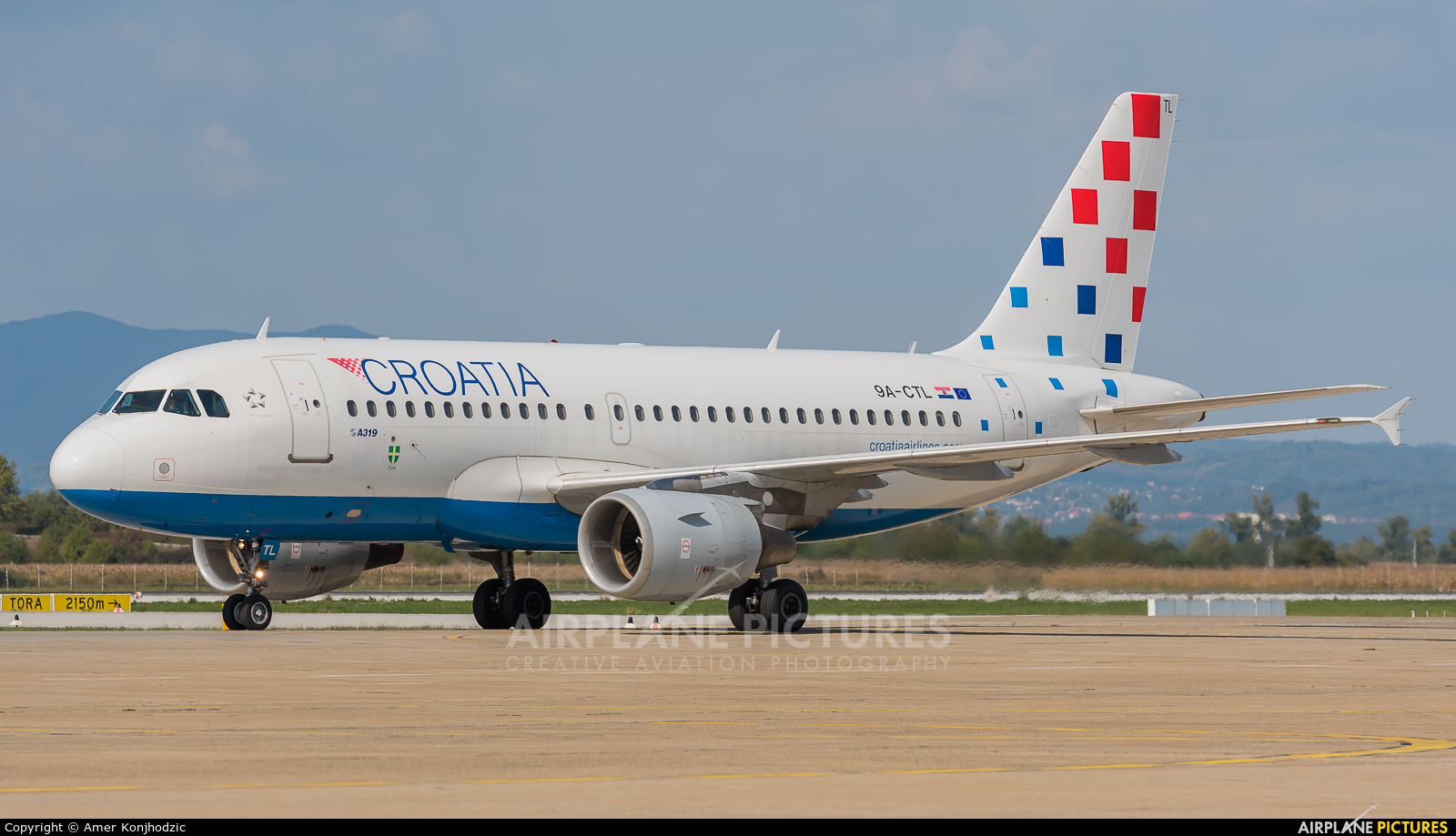 Croatia Airlines 9A-CTL aircraft at Zagreb