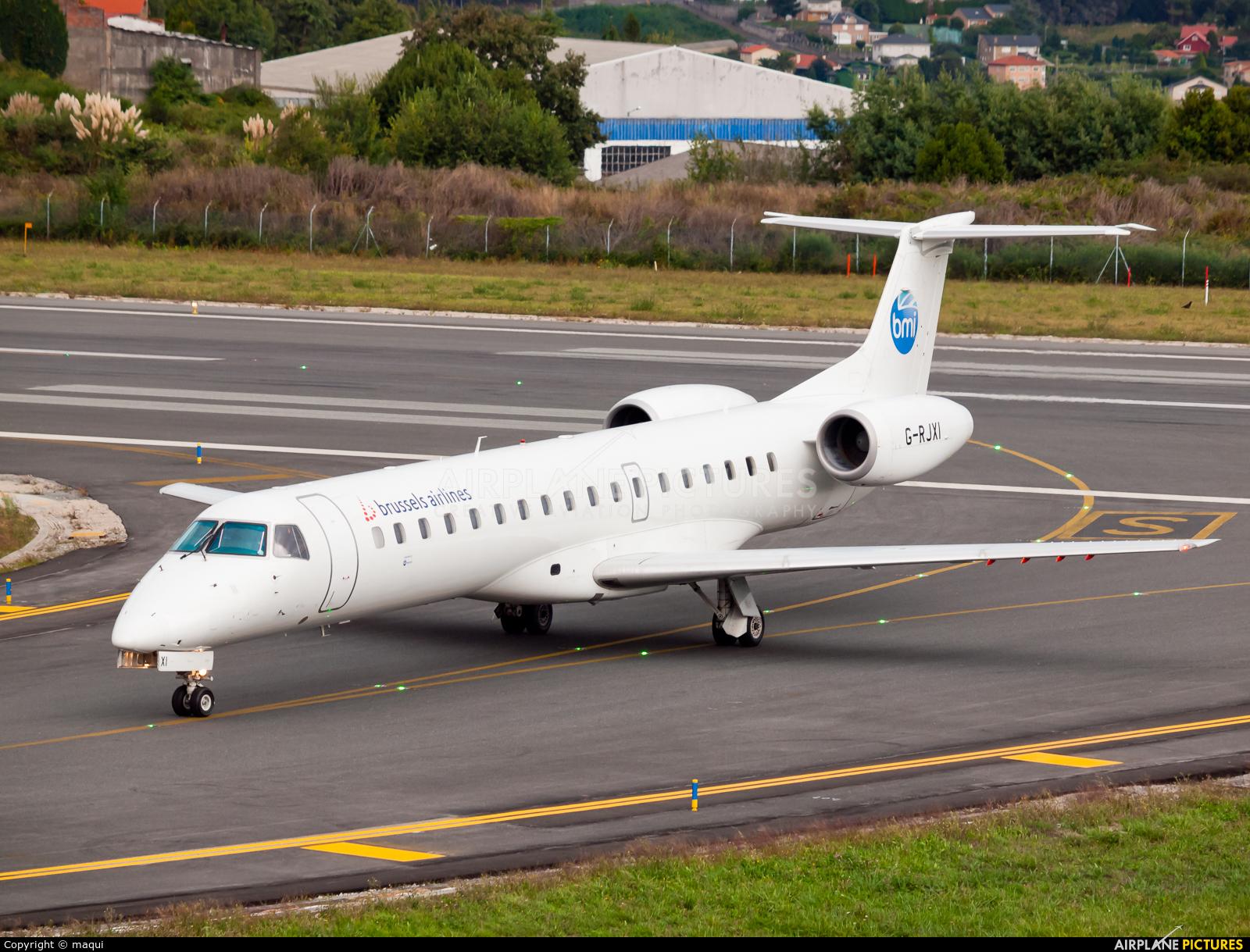 BMI Regional G-RJXI aircraft at La Coruña