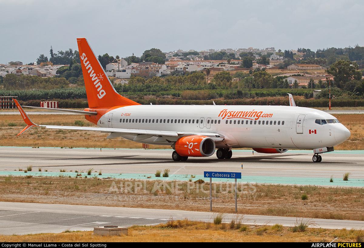 Sunwing Airlines C-FEAK aircraft at Málaga