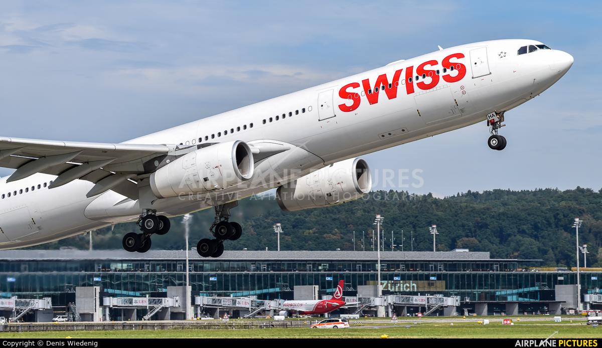 Swiss HB-JHA aircraft at Zurich
