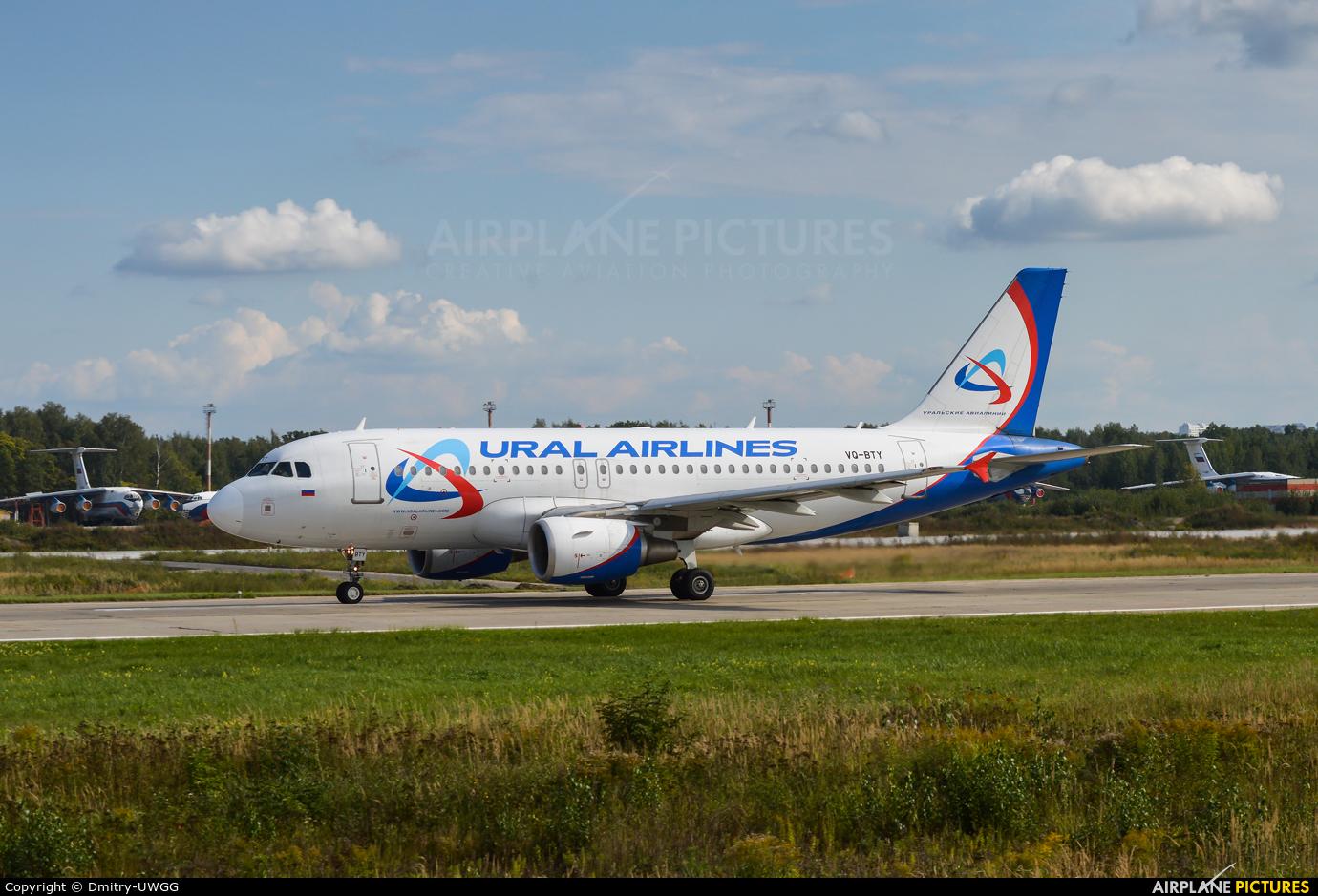Ural Airlines VQ-BTY aircraft at Nizhniy Novgorod