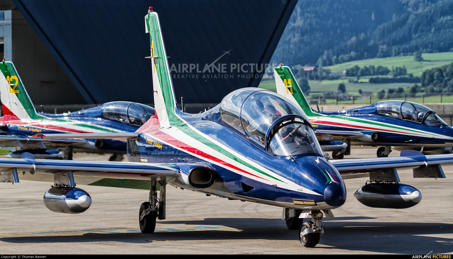 "Italy - Air Force ""Frecce Tricolori"" MM54551 aircraft at Zeltweg"