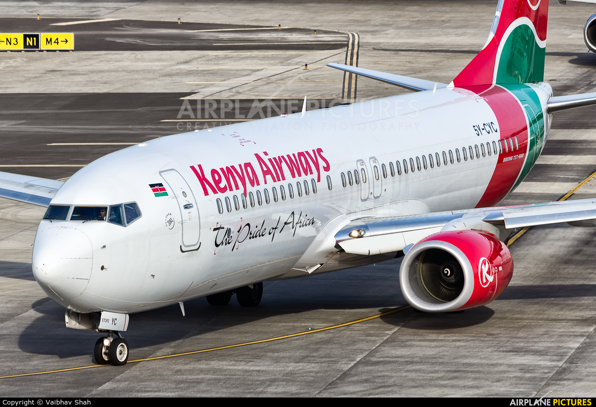 Kenya Airways 5Y-CYC aircraft at Mumbai - Chhatrapati Shivaji Intl