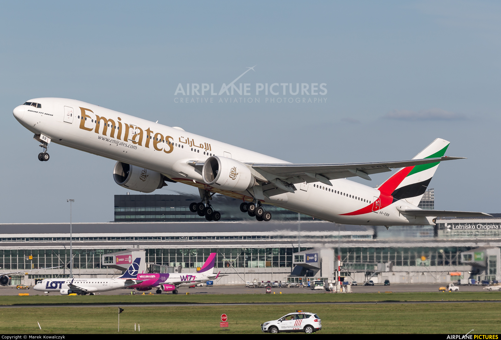 Emirates Airlines A6-EBB aircraft at Warsaw - Frederic Chopin