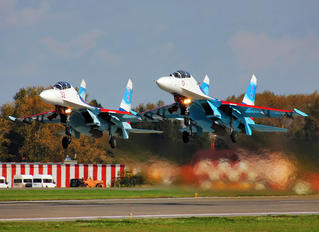 "RF-92202 - Russia - Air Force ""Falcons of Russia"" Sukhoi Su-27UB"