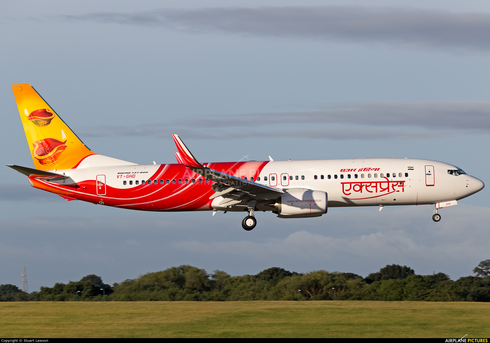 Air India Express VT-GHD aircraft at Birmingham