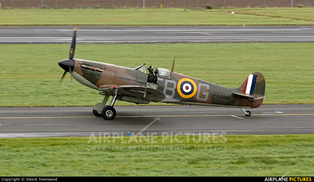 "Royal Air Force ""Battle of Britain Memorial Flight&quot P7350 aircraft at Prestwick"