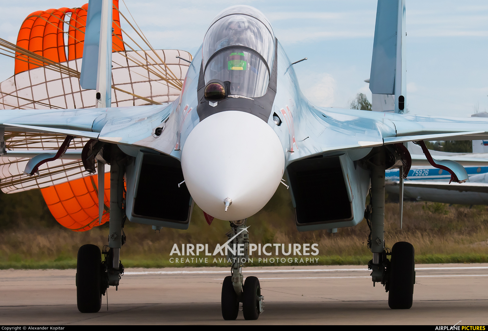 """Russia - Air Force """"Falcons of Russia"""" 04 RED aircraft at Kubinka"""