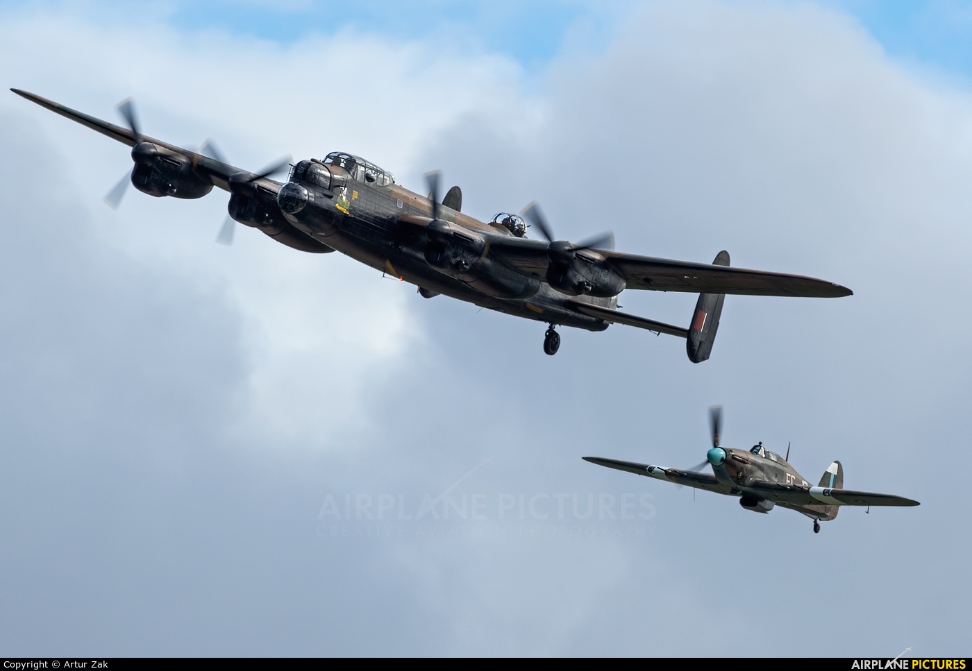 "Royal Air Force ""Battle of Britain Memorial Flight&quot PA474 aircraft at Portrush - Off Airport"