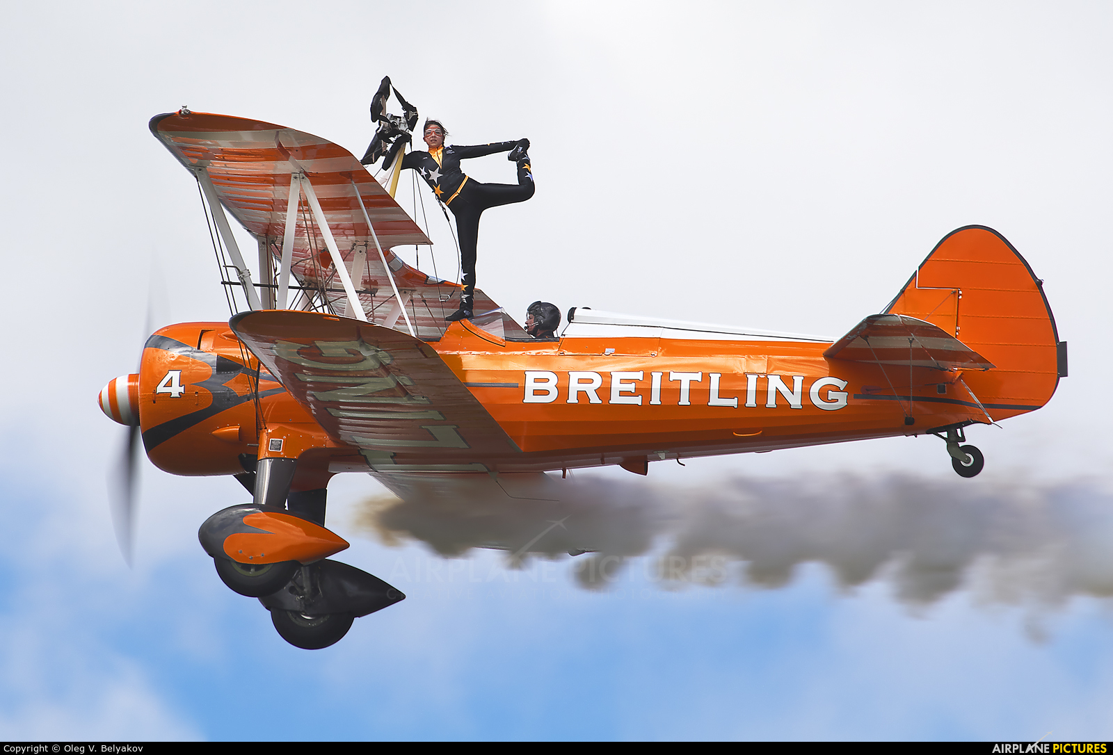 Breitling Wingwalkers SE-BOG aircraft at Fairford
