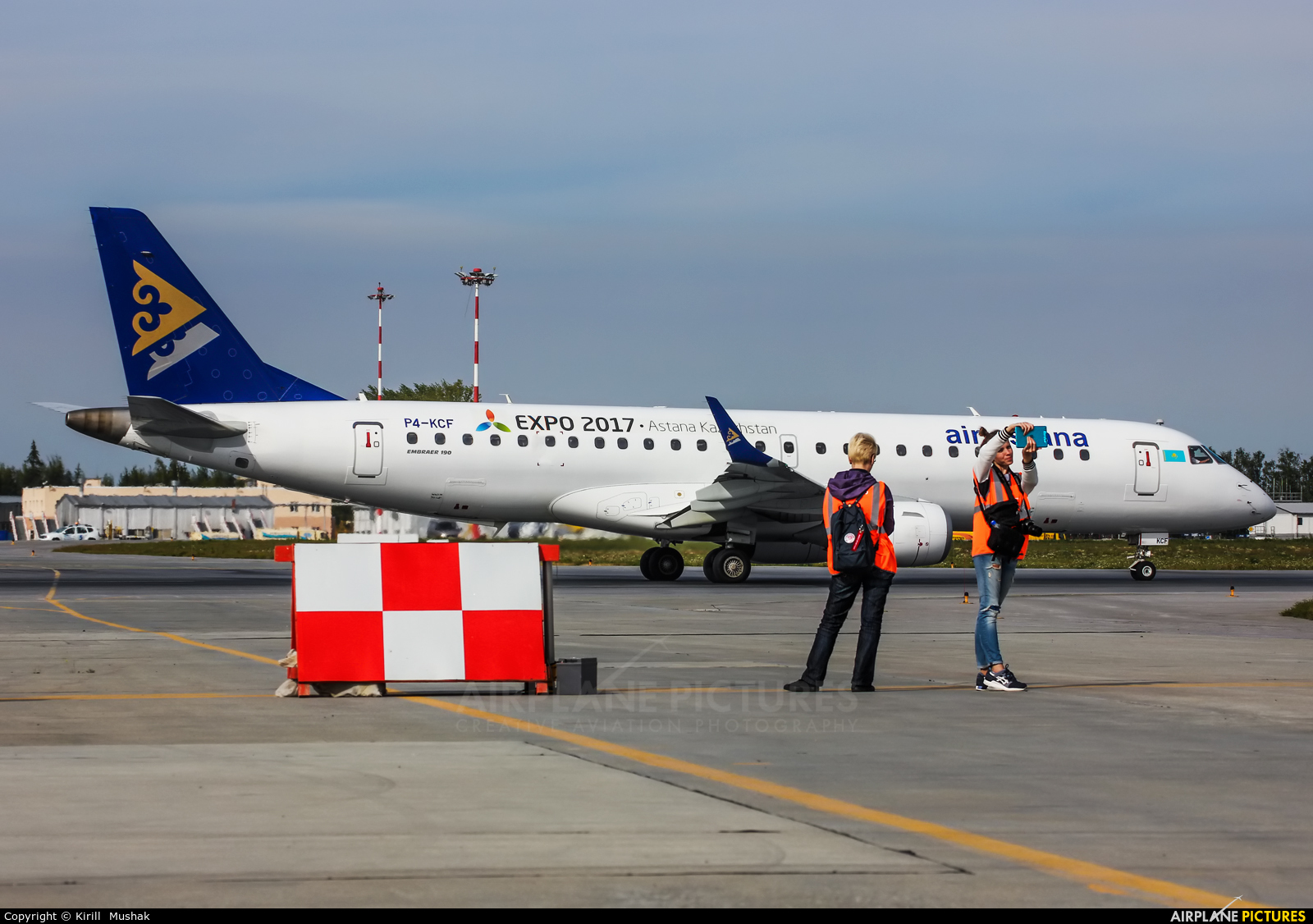 Air Astana P4-KCF aircraft at Koltsovo - Ekaterinburg