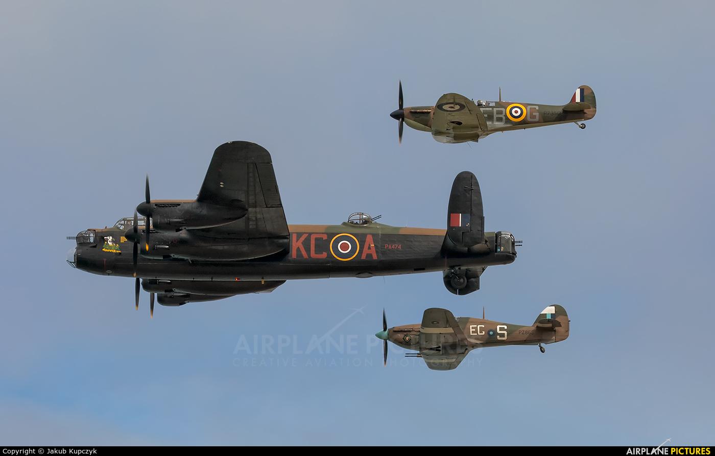 "Royal Air Force ""Battle of Britain Memorial Flight&quot PA474 aircraft at Portrush - Off Airport"