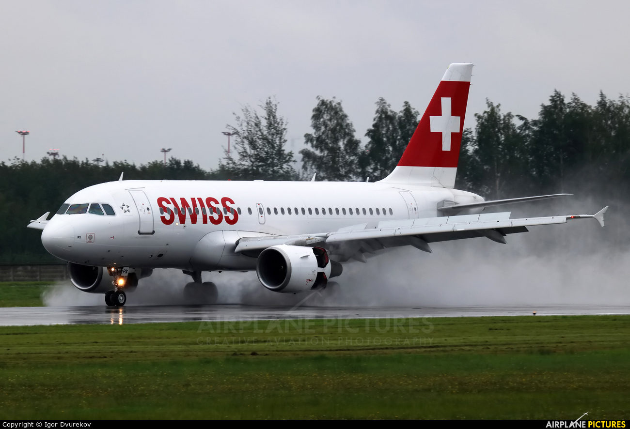 Swiss HB-IPX aircraft at St. Petersburg - Pulkovo