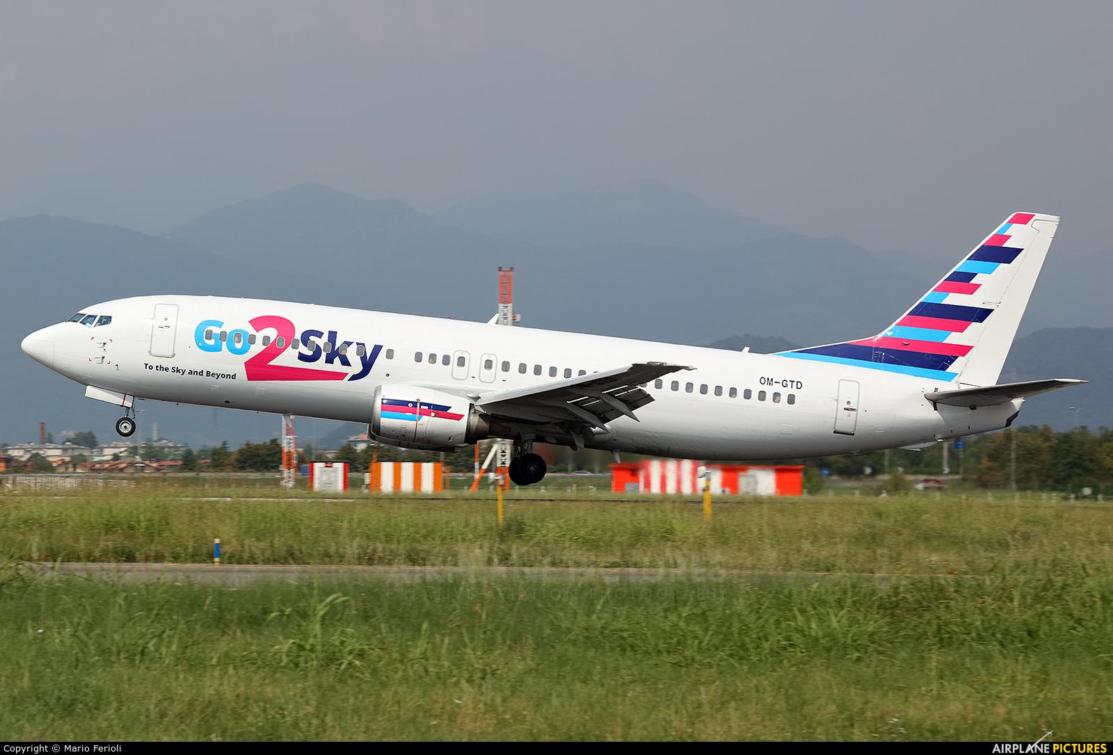 Go2Sky Airline OM-GTD aircraft at Bergamo - Orio al Serio