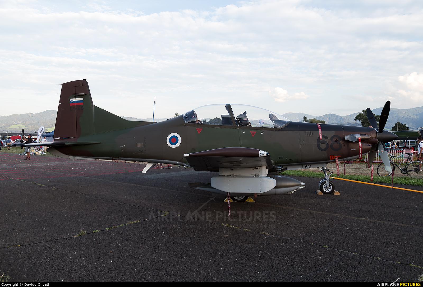 Slovenia - Air Force L9-68 aircraft at Zeltweg