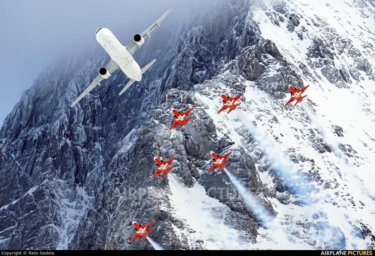 Swiss HB-IOH aircraft at Lauberhorn