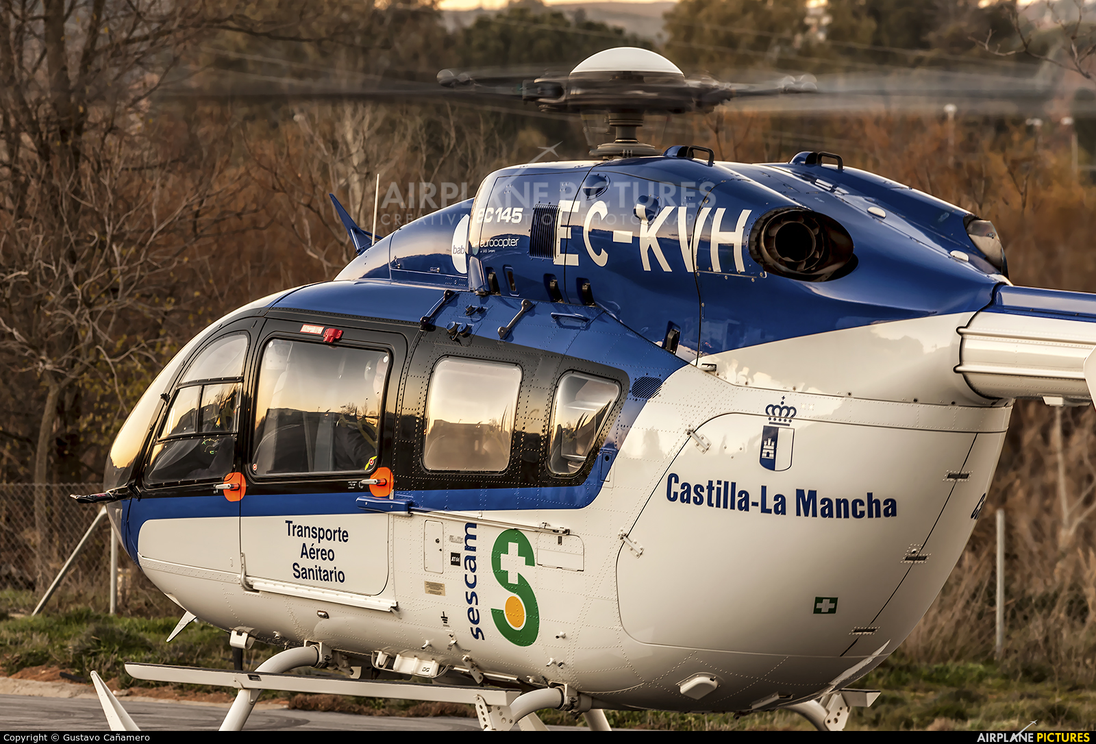 Sescam EC-KVH aircraft at Off Airport - Spain