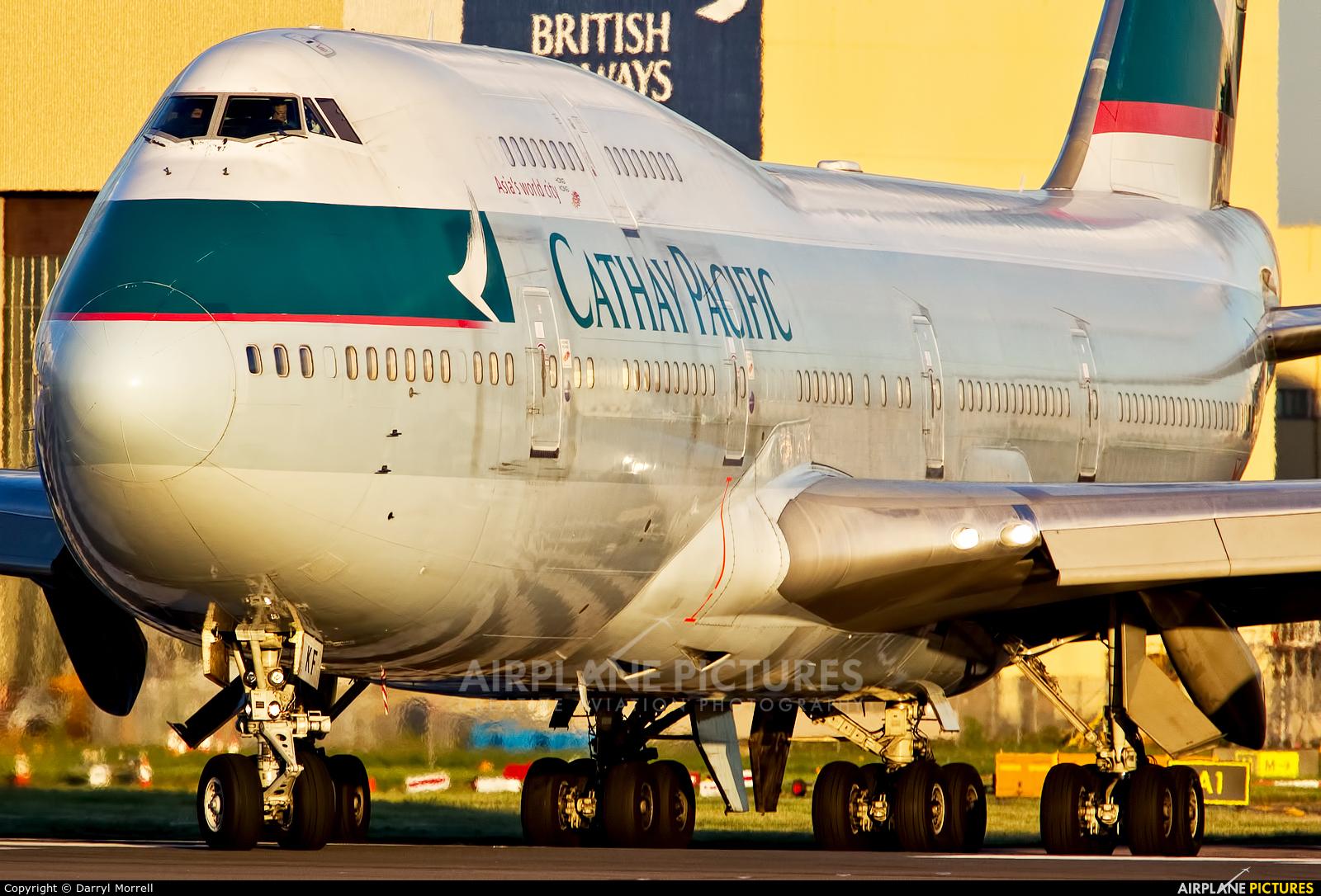 Cathay Pacific B-HKF aircraft at London - Heathrow