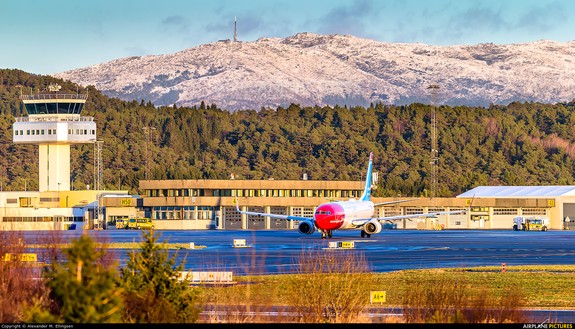 Norwegian Air Shuttle LN-NGE aircraft at Bergen - Flesland