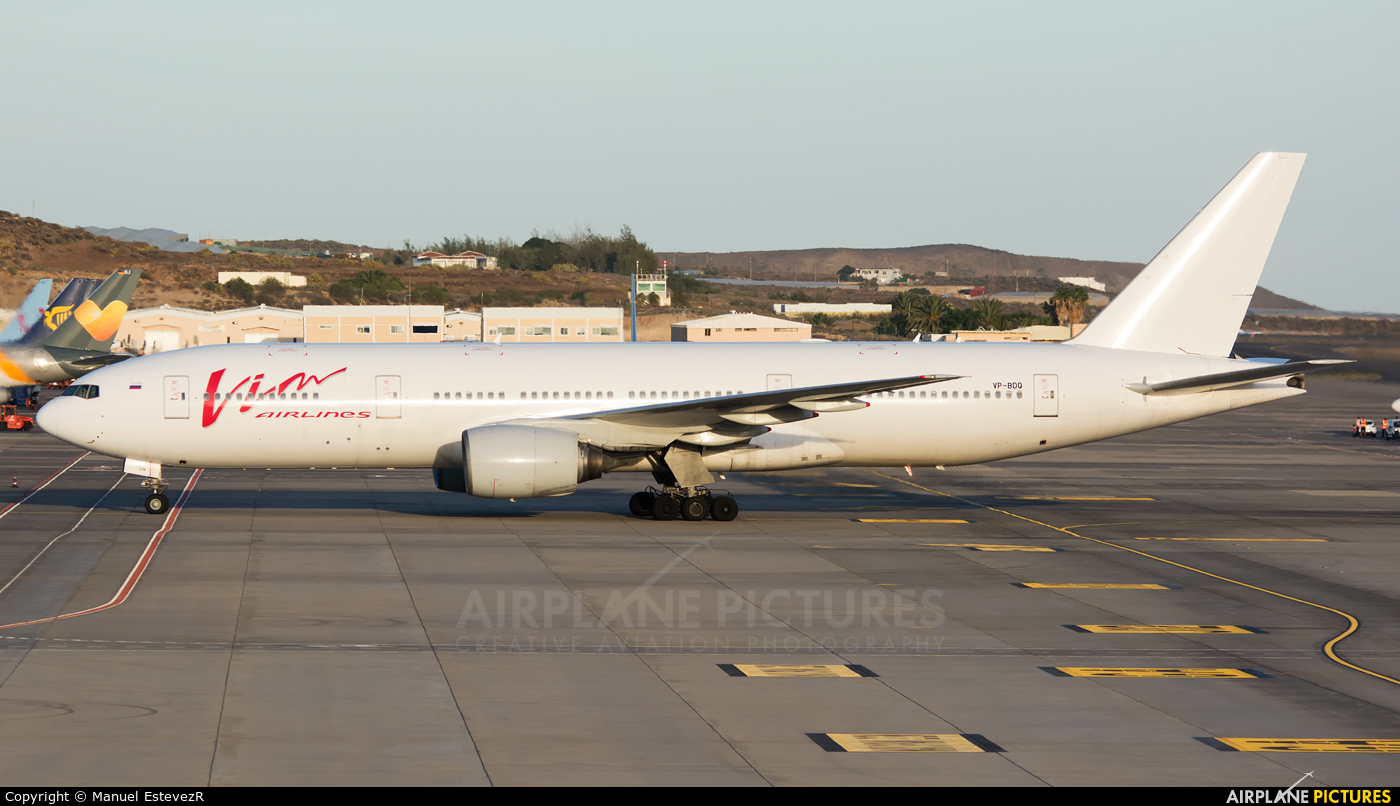 Vim Airlines VP-BDQ aircraft at Tenerife Sur - Reina Sofia
