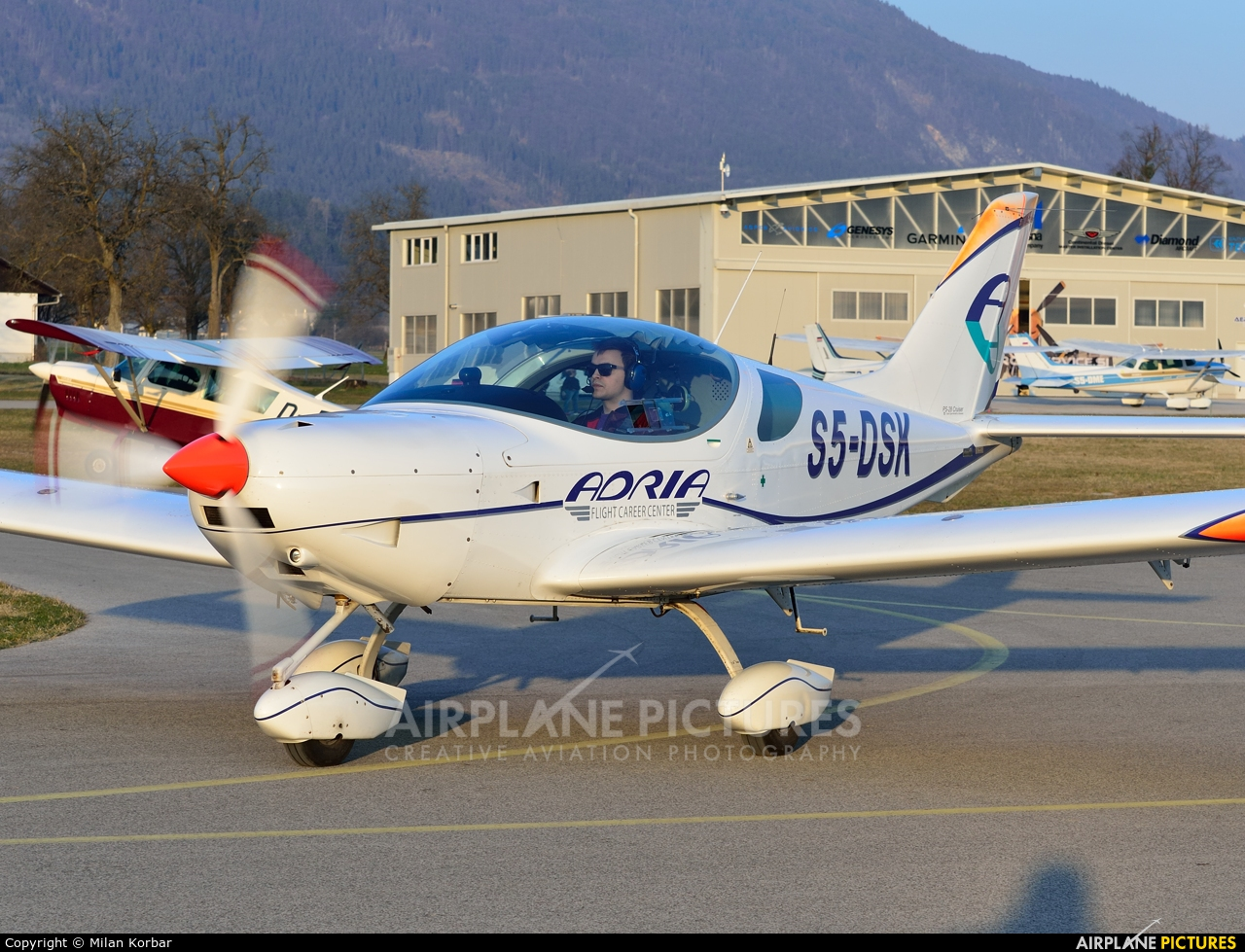 Adria Airways Flight School S5-DSK aircraft at Lesce-Bled