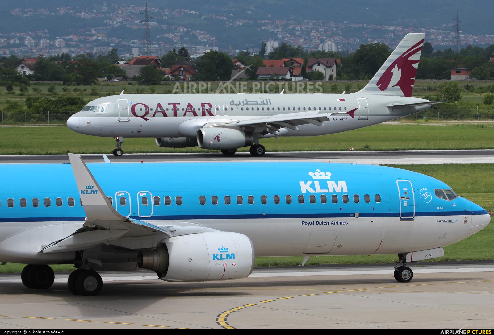 KLM PH-BGC aircraft at Zagreb