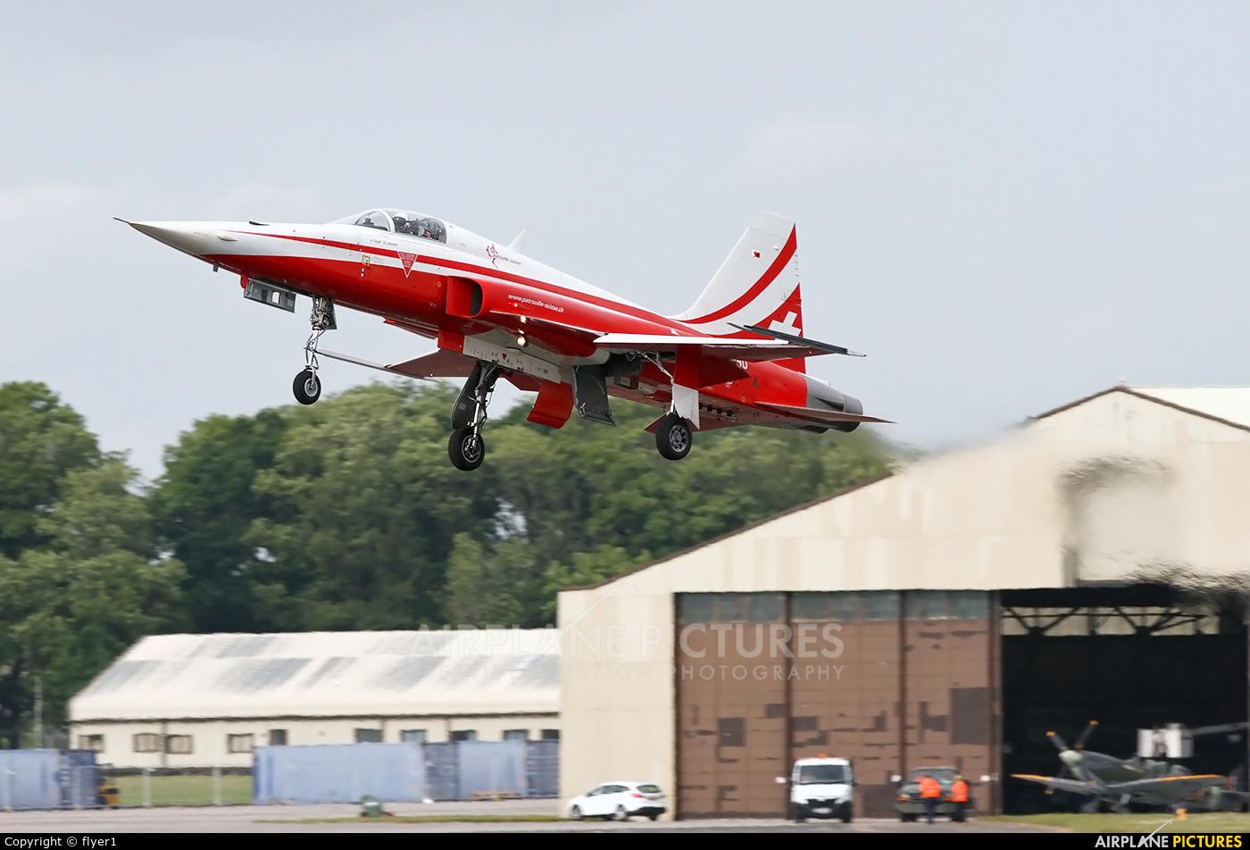 Switzerland - Air Force:  Patrouille de Suisse J-3090 aircraft at Fairford