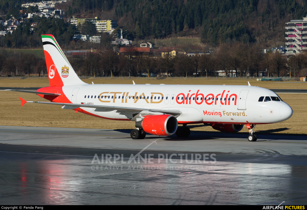 Air Berlin D-ABDU aircraft at Innsbruck
