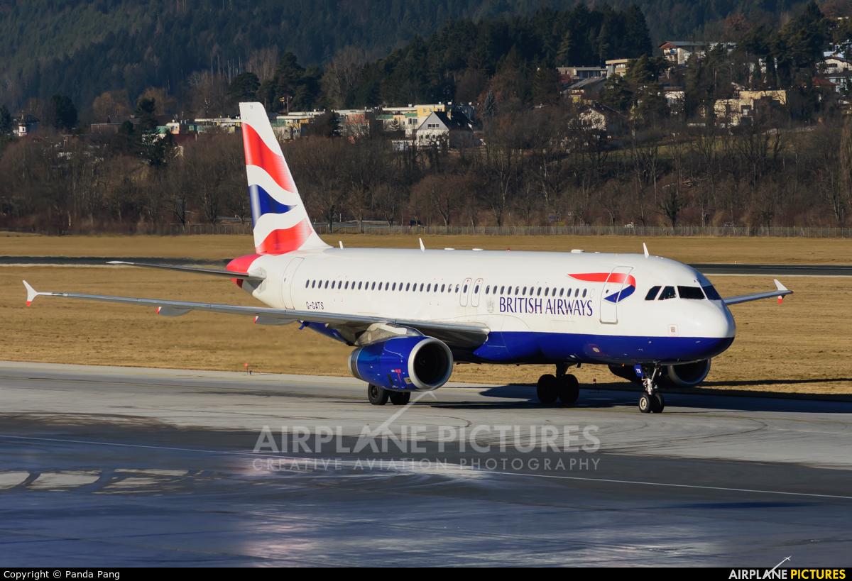 British Airways G-GATS aircraft at Innsbruck