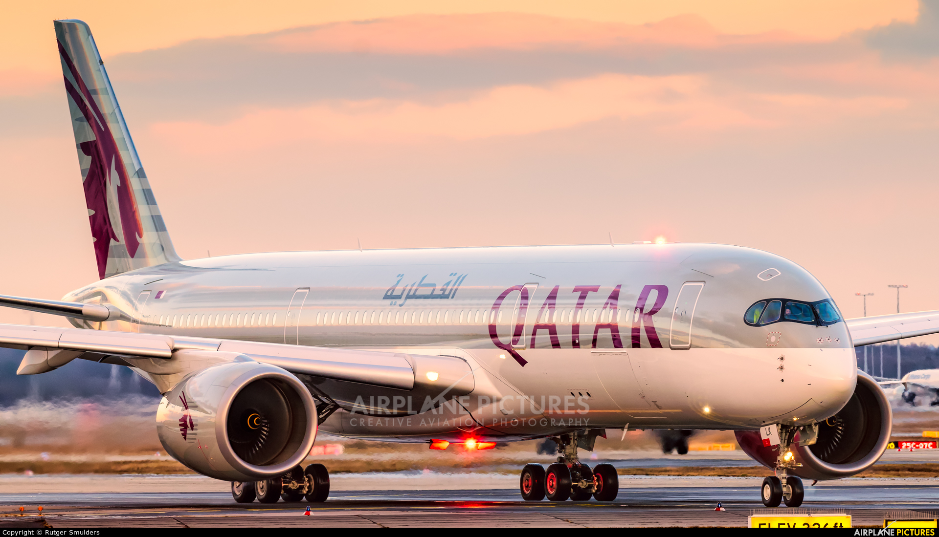 Qatar Airways A7-ALK aircraft at Frankfurt
