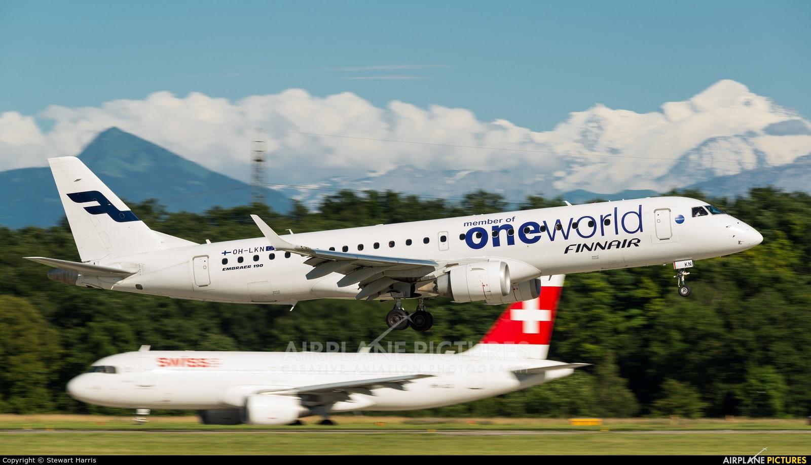 Finnair OH-LKN aircraft at Geneva Intl