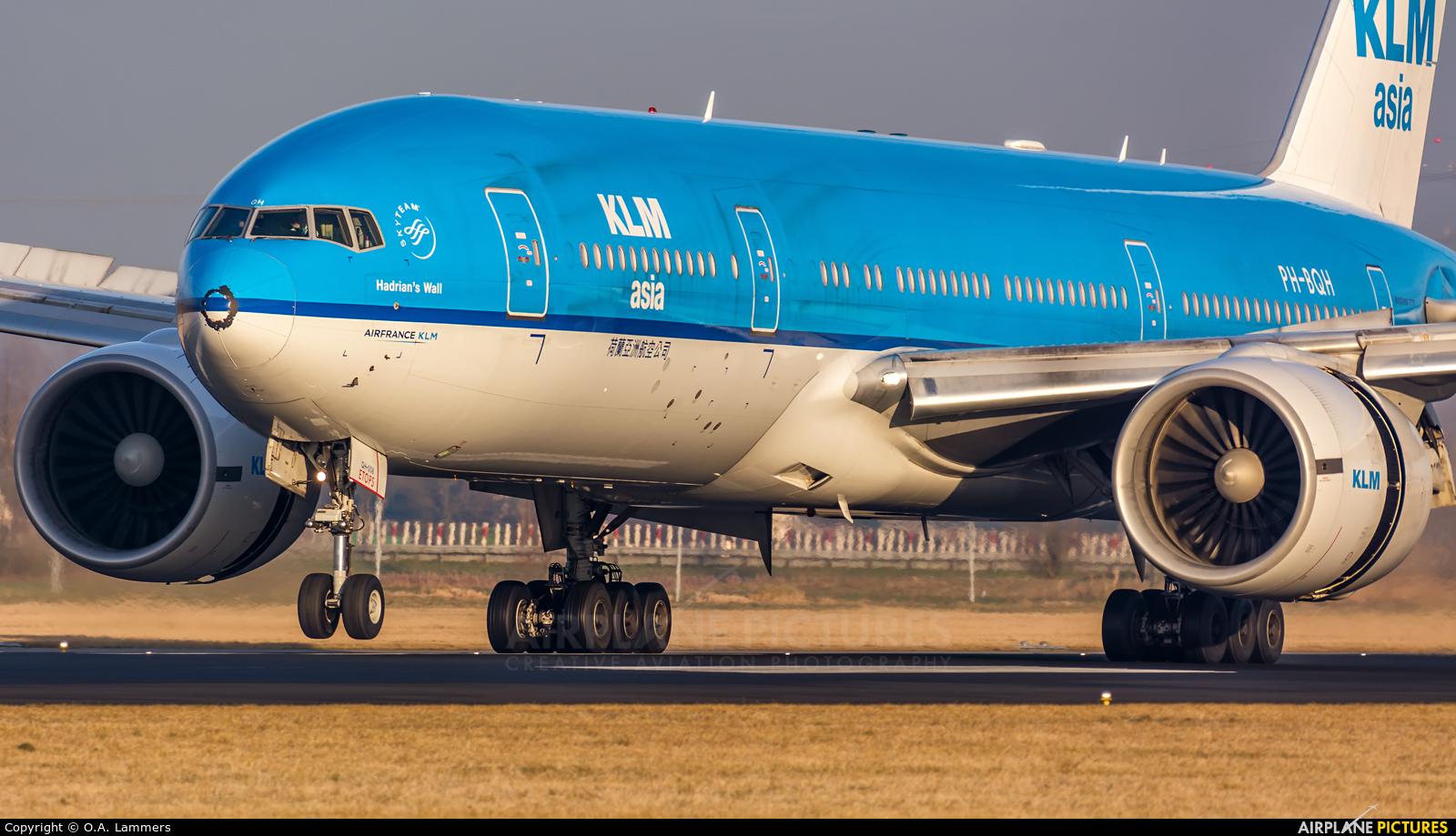KLM Asia PH-BQH aircraft at Amsterdam - Schiphol