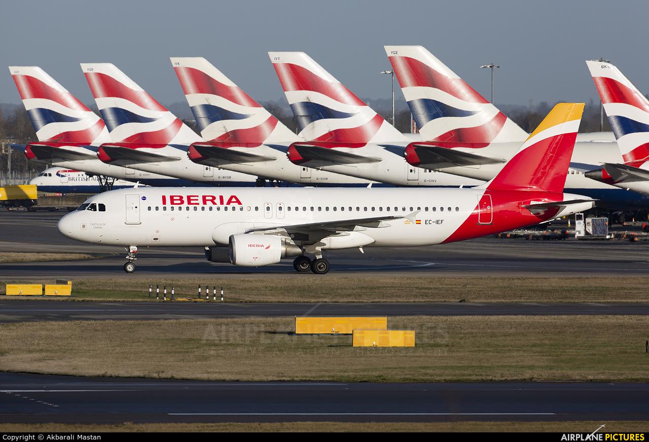 Iberia EC-IEF aircraft at London - Heathrow