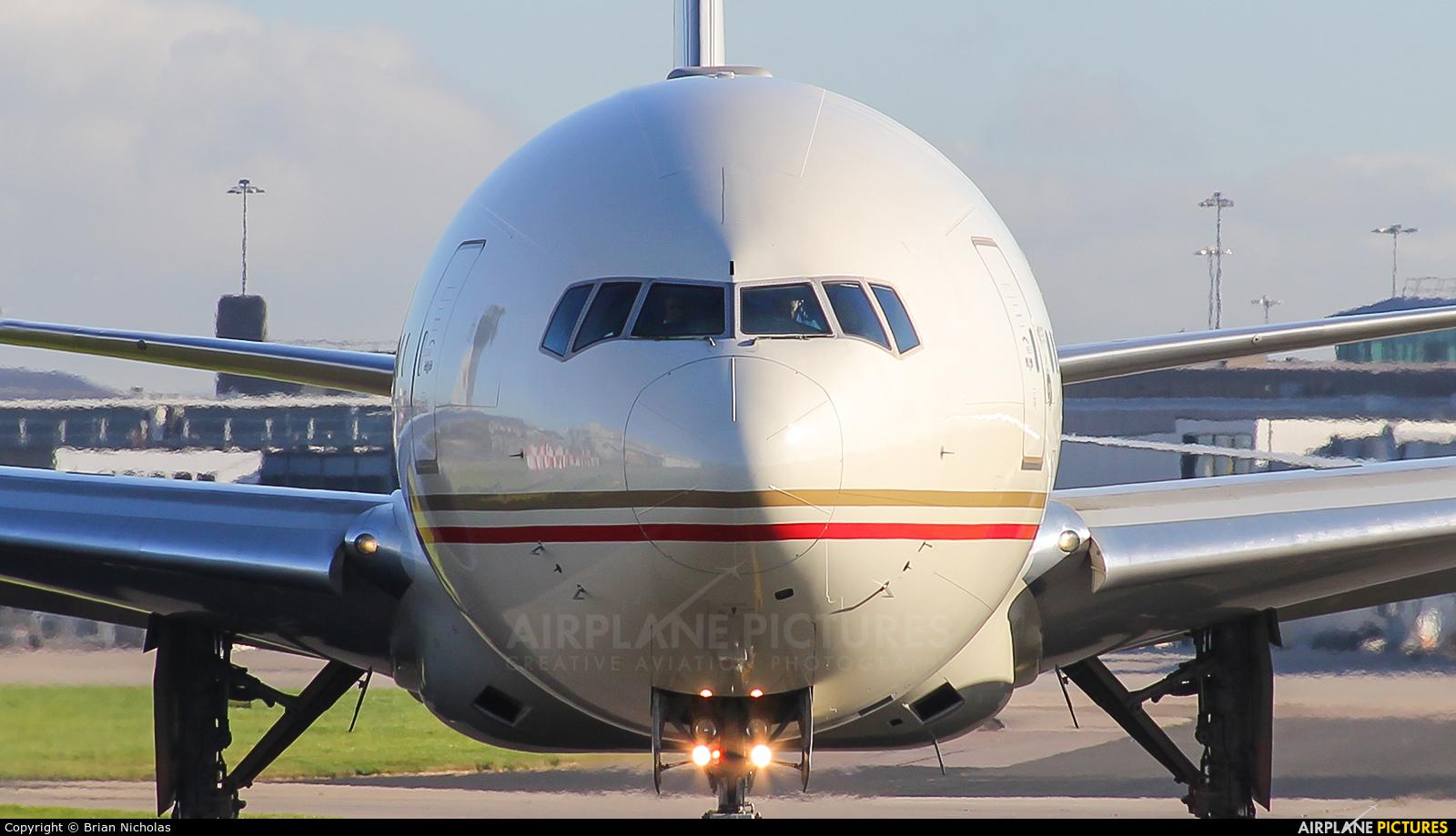 Etihad Airways A6-ETI aircraft at Manchester