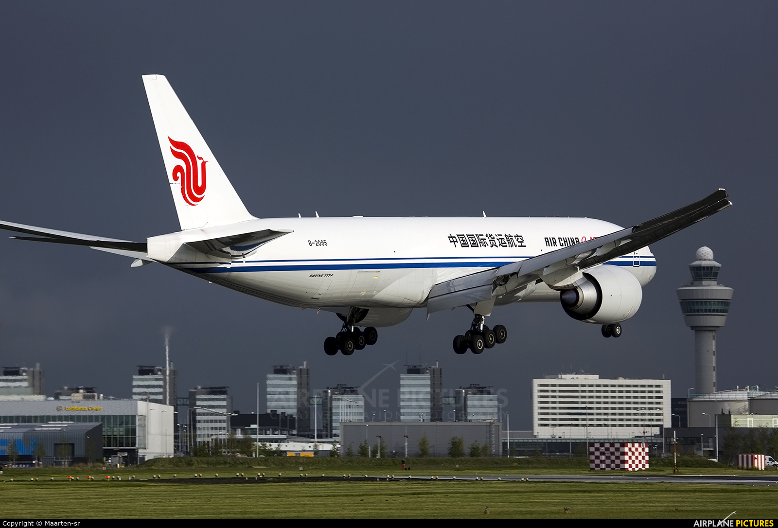 Air China Cargo B-2095 aircraft at Amsterdam - Schiphol