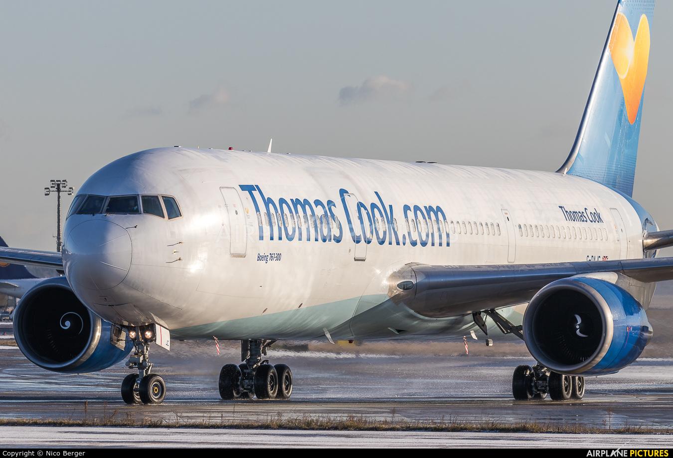 Thomas Cook G-DAJC aircraft at Frankfurt