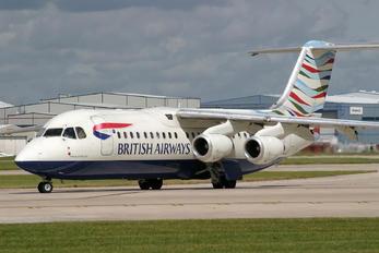 G-BZAT - British Airways - British Regional British Aerospace BAe 146-300/Avro RJ100