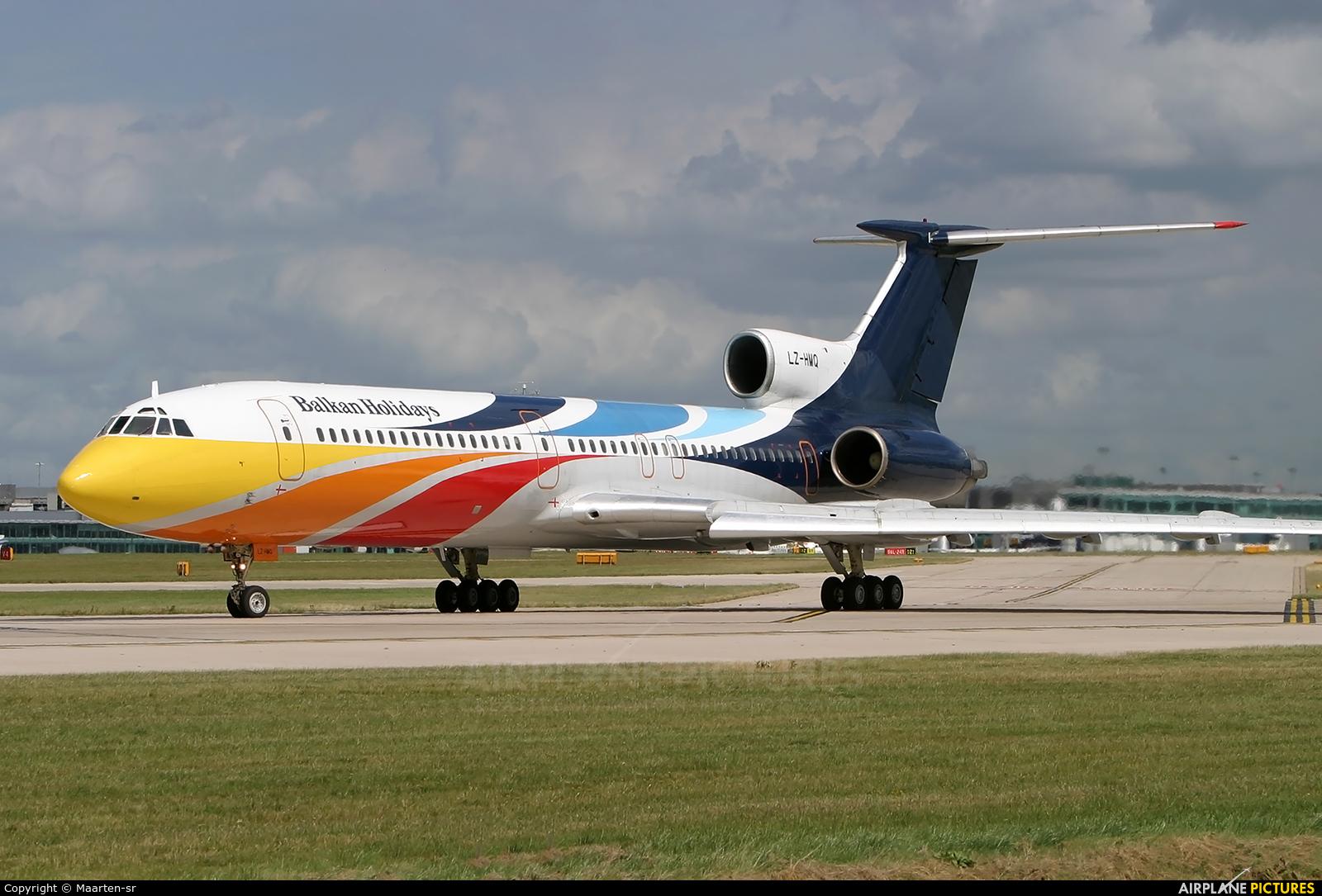Balkan Holidays Air LZ-HMQ aircraft at Manchester