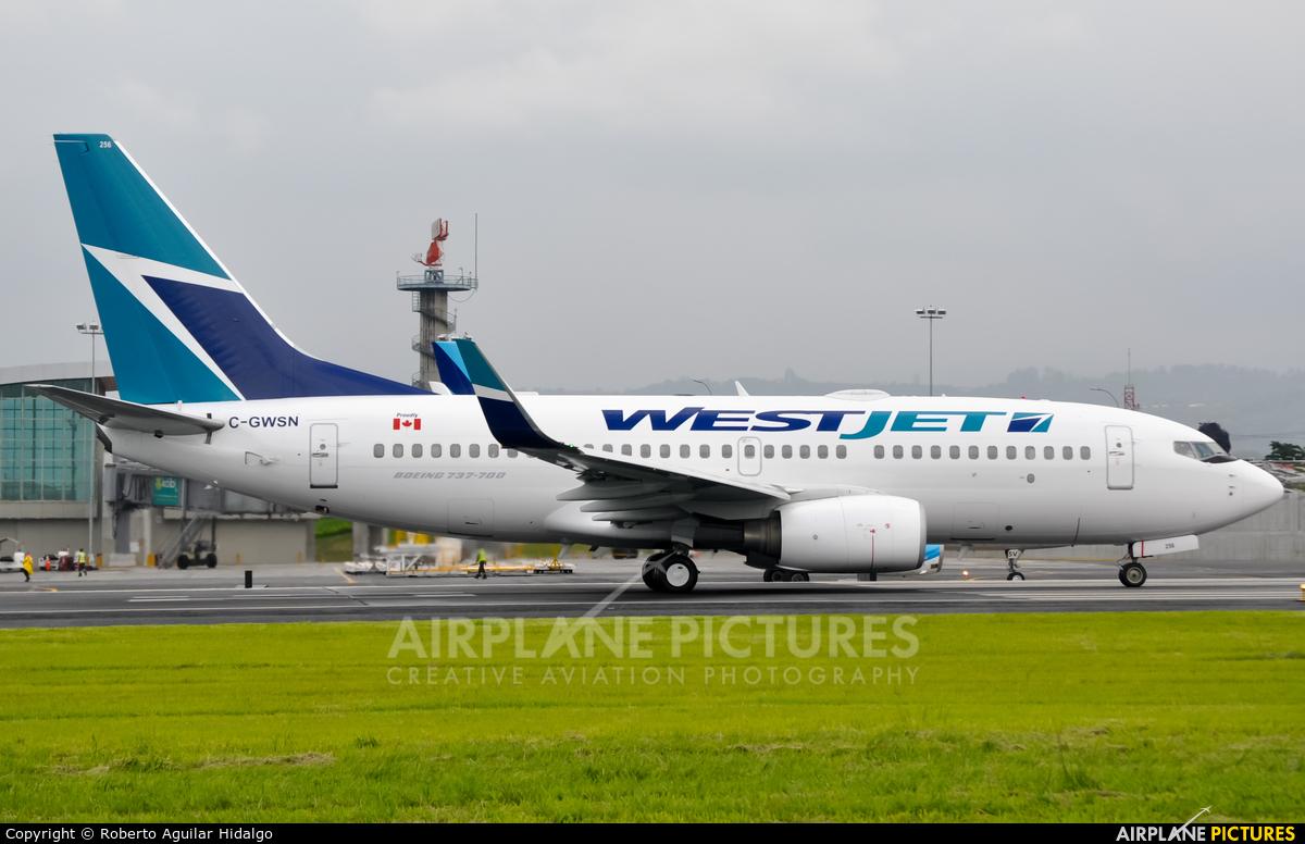 WestJet Airlines C-GWSN aircraft at San Jose - Juan Santamaría Intl