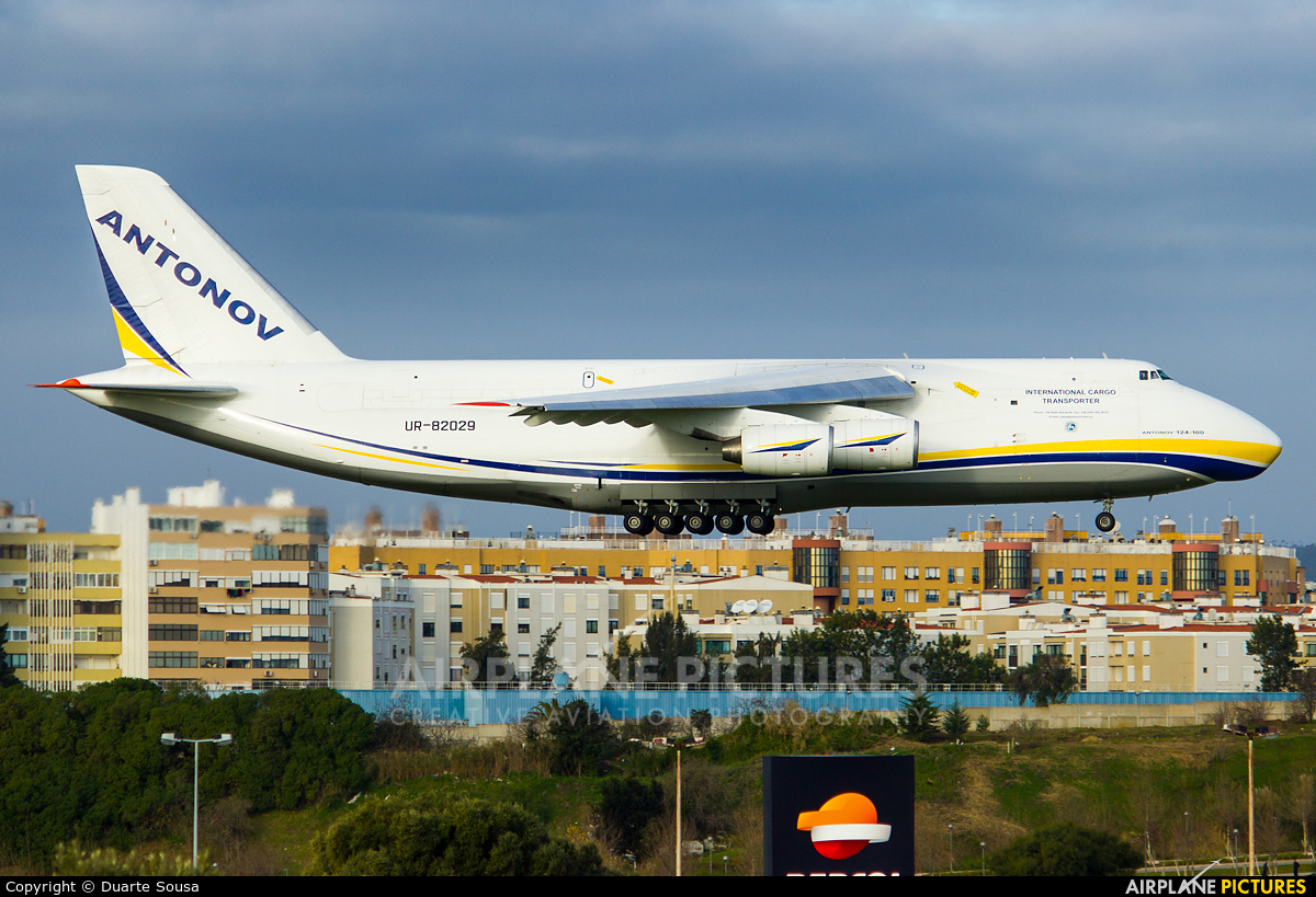 Antonov Airlines /  Design Bureau UR-82029 aircraft at Lisbon
