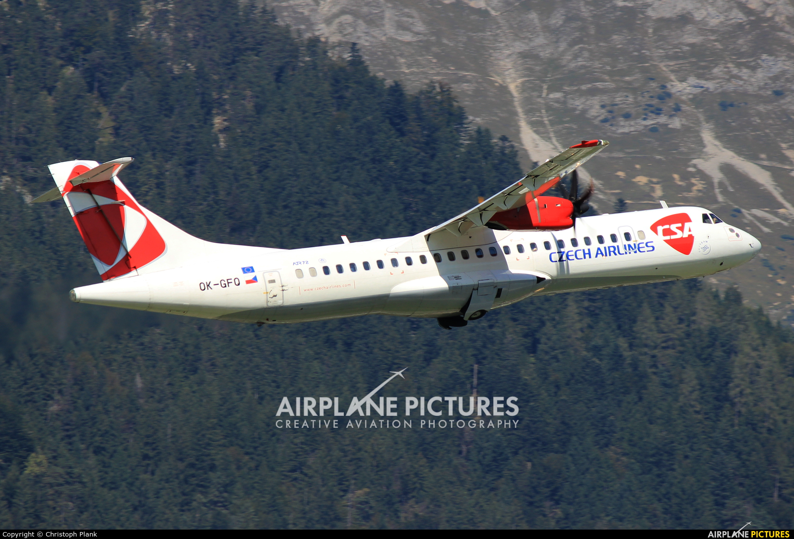 CSA - Czech Airlines OK-GFQ aircraft at Innsbruck